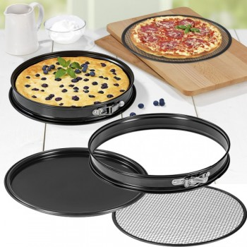 GOURMETmaxx Grill- und Pizza-Backform 3in1 31cm
