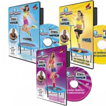 POWER MAXX Trampolin Training DVD 3er Set