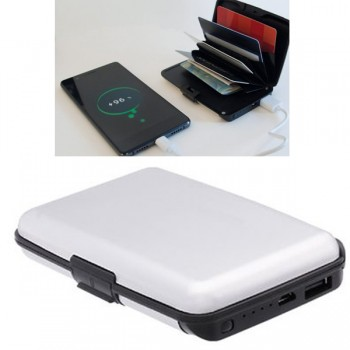 Card Guard Power Wallet silber 2in1