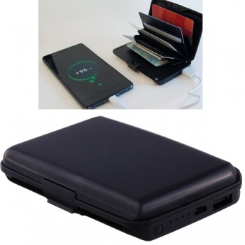 Card Guard Power Wallet schwarz 2in1