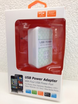 USB Power Adapter mit 4 Port